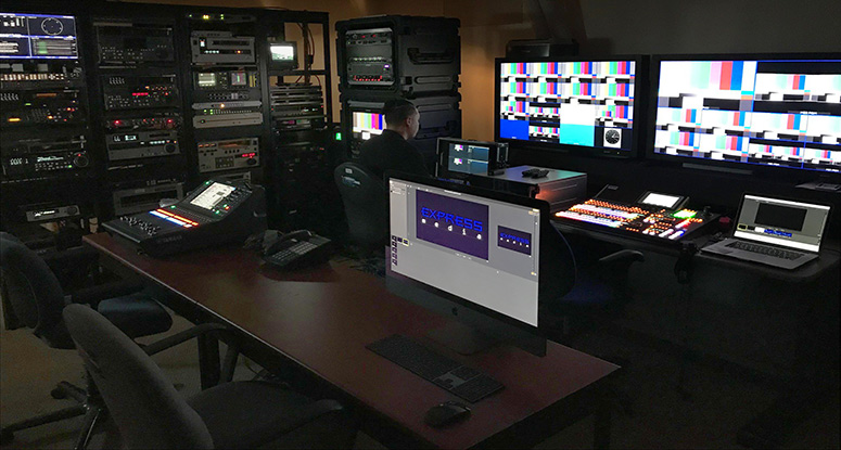 Express Media Master Control Room